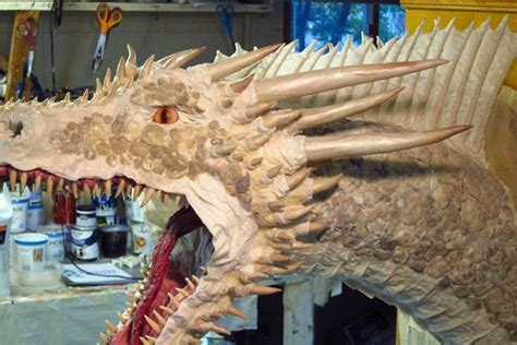 paper mache drogon version scale ish skin