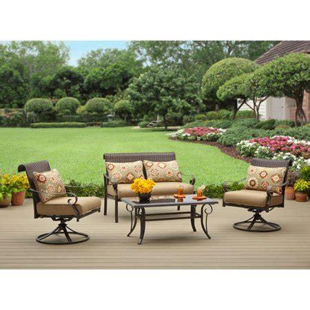 walmart better homes and gardens furniture better homes and gardens riverwood 4 patio conversation set seats 4 walmart
