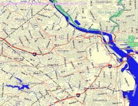 Arlington Virginia Map by Map Of Arlington Va Related Keywords Amp Suggestions Map