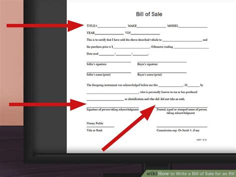 how to write a bill of sale for a boat how to write a bill of sale for an rv 11 steps with