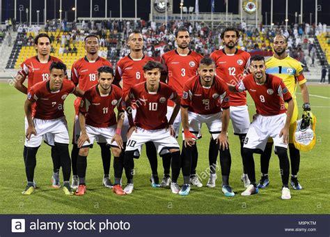 Doha, Qatar. Mar 27, 2018. Des joueurs de l'équipe ... L Equipe Football