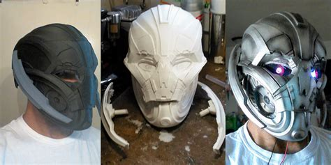 avengers age  ultron cosplay mask   printed