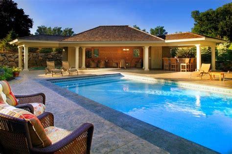 Backyard Pool House by Pool House