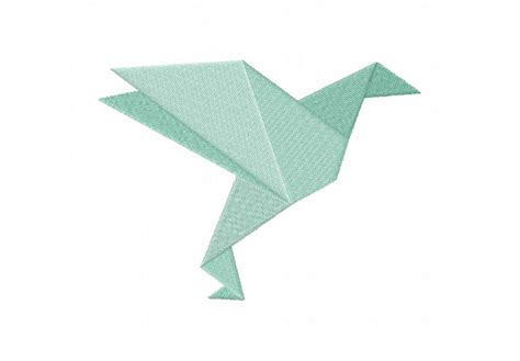 Simple Bird Origami - origami birds machine embroidery designs pack embroidery