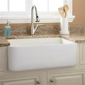 farmhouse apron kitchen sinks 30 quot durant reversible fireclay farmhouse sink smooth