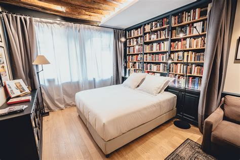 le librerie chambre hotel marais suite boutique hotel