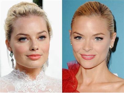 margot robbie jaime pressly 12 parejas de famosos que parecen gemelos pero de otra