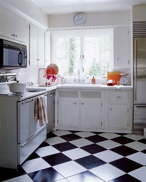 simple floor easy kitchen redo checkerboard floor 1950s kitchen and laminate countertops