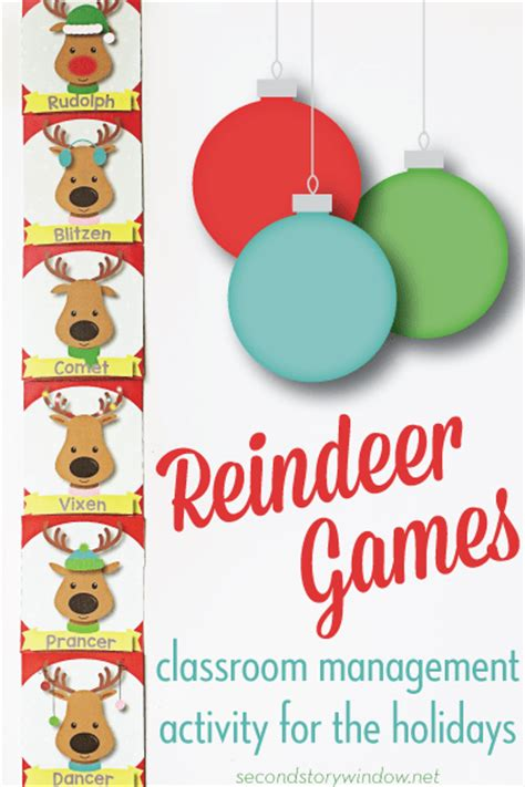 christmas games for the classroom reindeer classroom management freebie second story window
