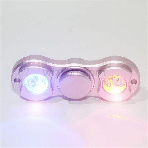 New Arrival Fidget Spinner 2 Mini Sisi Besi Mini Metalik Metalic finger fidget led 2 sided spinner metal aluminum alloy pink wizzon