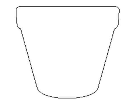 flower pot template free shape and object patterns for crafts stencils and