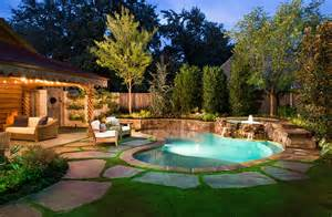 Small Backyard With Pool Swimming Pools Design Ideas Inspirations Photos