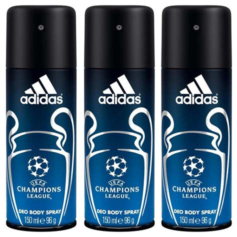 Adidas Deodorant Spray buy adidas chions league pack of 3 deodorant for