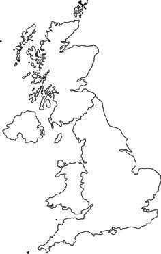 blank outline map of British Isles | Legendary Women of