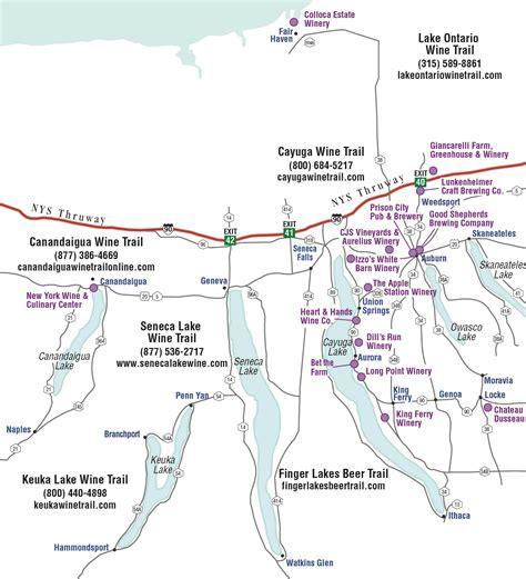 cayuga lake wine trail map maps of cayuga county maps cayuga county ny 187 tour