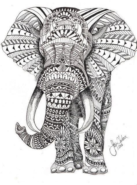 coloring pages for adults elephant 25 best ideas about mandala elephant on