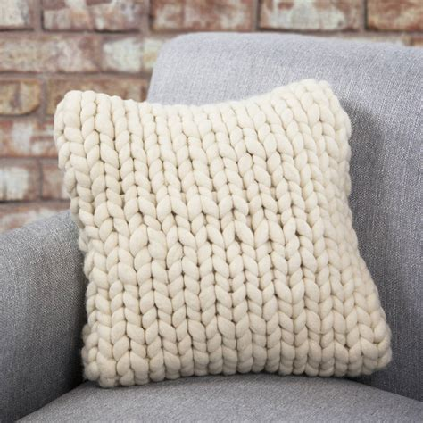 free chunky cushion cover knitting pattern hartland chunky knitted cushion by aston