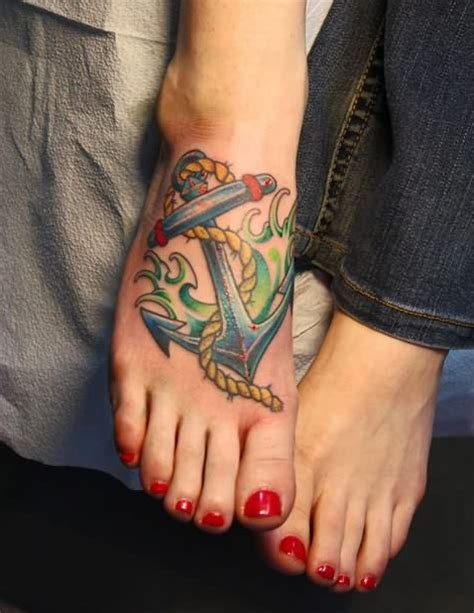 anchor foot tattoos anchor tattoos meaning fading trend or up and coming