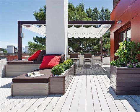 imagenes de jardines terrazas como decorar terrazas minimalistas elegantes y sencillas