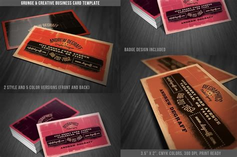 ready made business card templates 18 ready to print grunge flyer business card templates