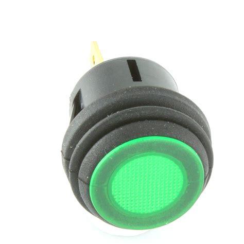 push button l switch illuminated latching push button switch green car