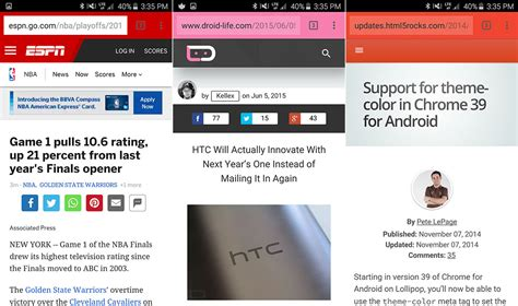 chrome theme color theme color mobile browsers mooie features got