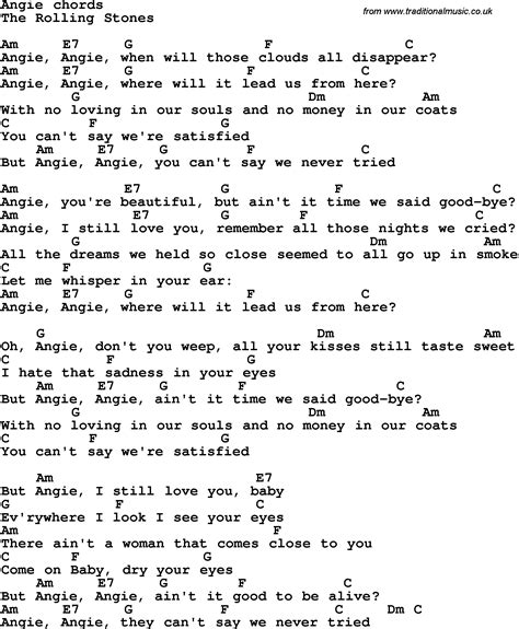 stones lyrics angie the rolling stones goats soup euclides59