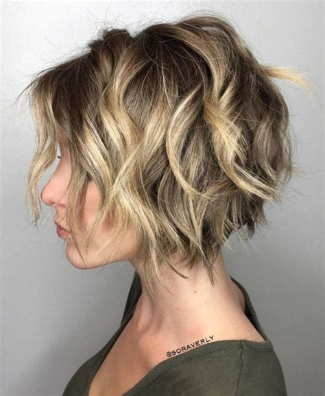 short cuts for woman that loss hair from chemo short textured bob hairstyle for women with thick hair