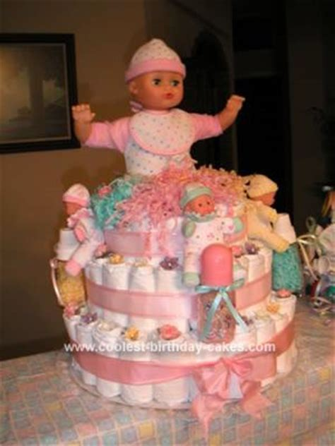 coolest baby doll diaper cake