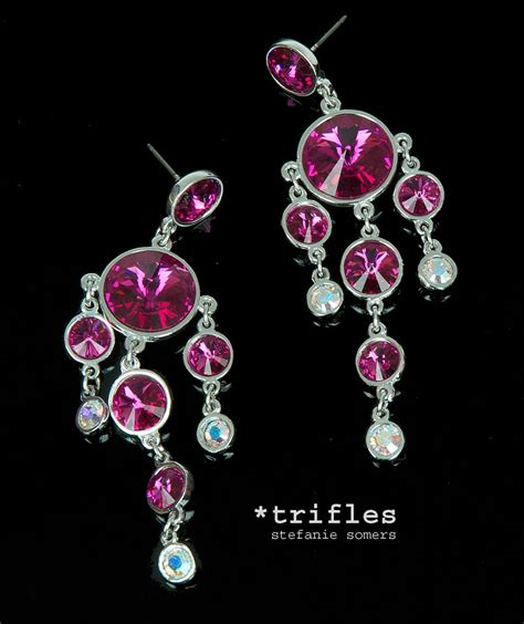 fuschia chandelier earrings 12 collection of fuschia chandelier