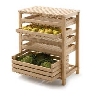 beechwood fruit and vegetable rack storage idea