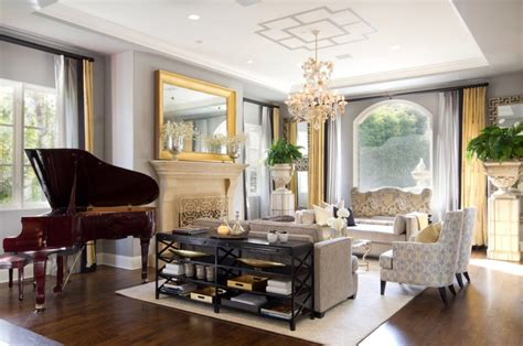 gold and grey living room 10 ways to add glitz and gold to your home interior freshome com