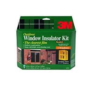 3m Patio Door Insulator Kit 3m 2173w Outdoor 3 Window Insulator Kit Weatherproofing Window Insulation Kits