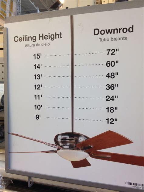 ceiling fan height clearance 1000 ideas about ceiling fan lights on pinterest