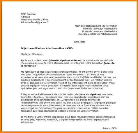 Exemple De Lettre De Motivation Btp 5 modele lettre de motivation lettre officielle