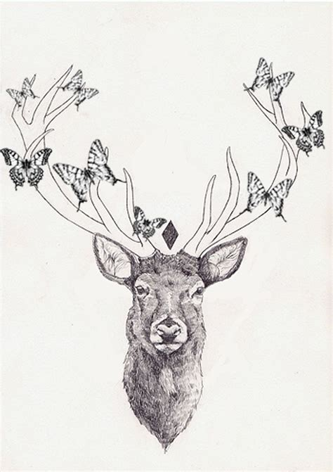 deer head tattoo design stag www pixshark images galleries