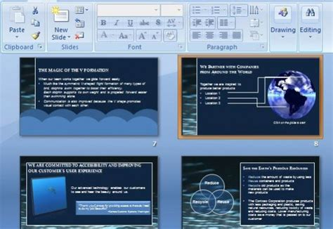 multimedia choreography powerpoint template