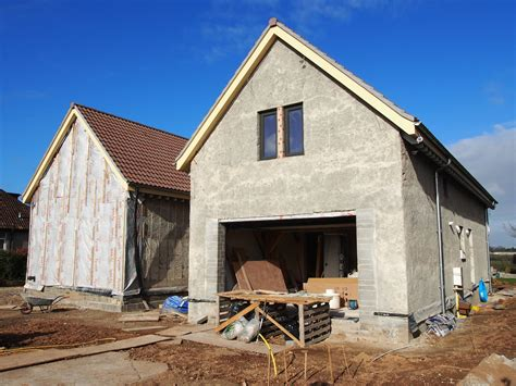 newly built building with hempcrete
