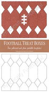 treat boxes templates diy free printable football treat boxes