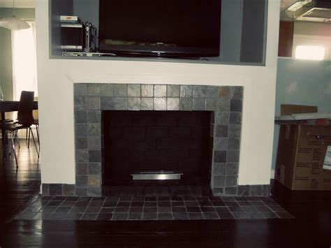 Remove Fireplace Hearth by Fireplace Makeover Removing A Brick Hearth And Retiling