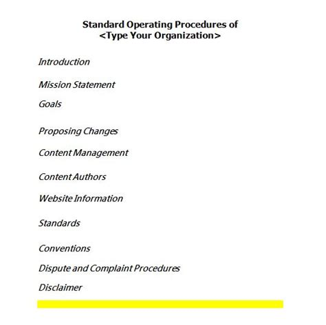 creating sop template 37 best standard operating procedure sop templates