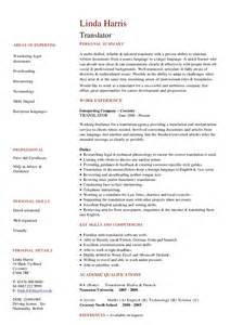 Interpreter Resume Sample Translator Cv Hashdoc