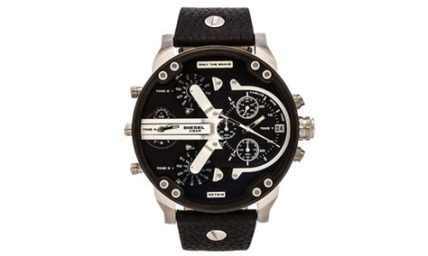diesel mr 2 0 black mens chronograph dz7313 groupon