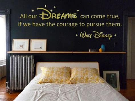 17 best images about adult disney bedroom on pinterest walt disney quot dreams quot vinyl wall art quote decal sticker
