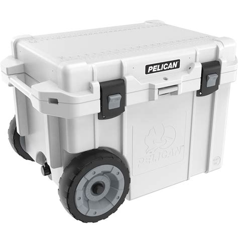pelican 45 qt cooler accessories pelican 45 qt elite cooler with wheels white lowest prices