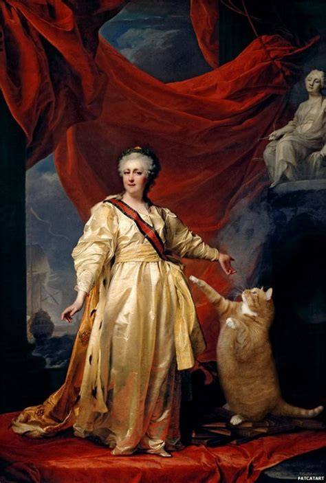 classic paintings artist plops cat into paintings