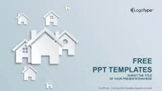 property template free real estate icon powerpoint templates