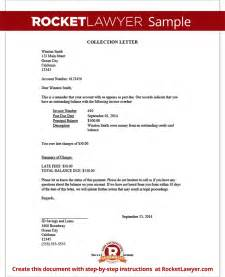 debt collector letter template collection letter sle collection letter template