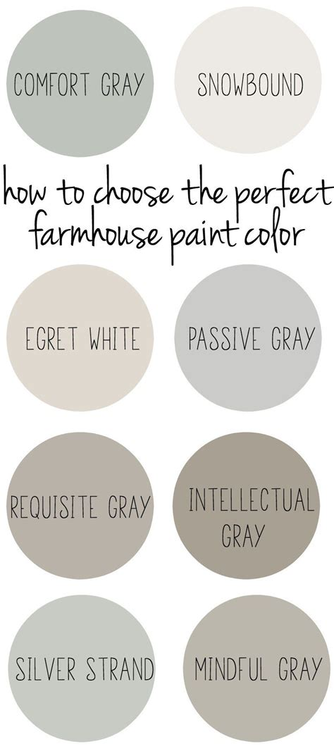 choose the perfect paint color how to choose the perfect farmhouse paint colors
