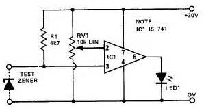 diode zener 220v zener diode tester circuit diagram